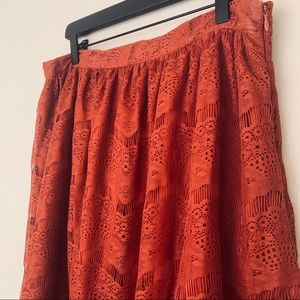 Lace Rust Skirt